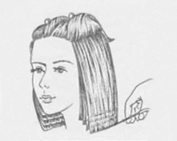 Создание одной линии среза для всех волос