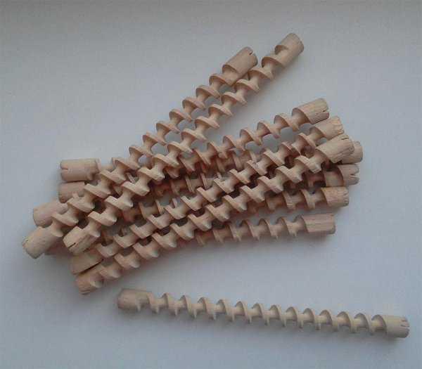 Деревянные бигуди-спирали
