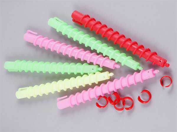Пластмассовые бигуди-спирали