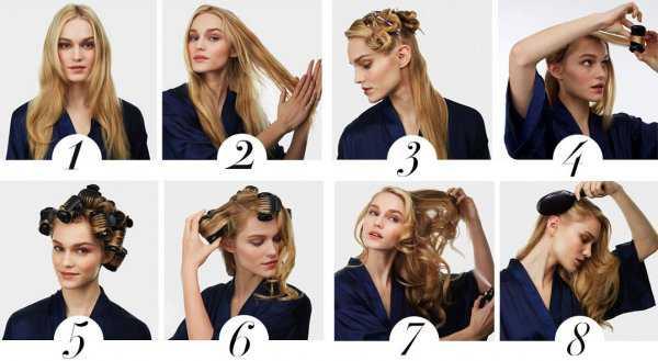 Накручивание волос на термобигуди