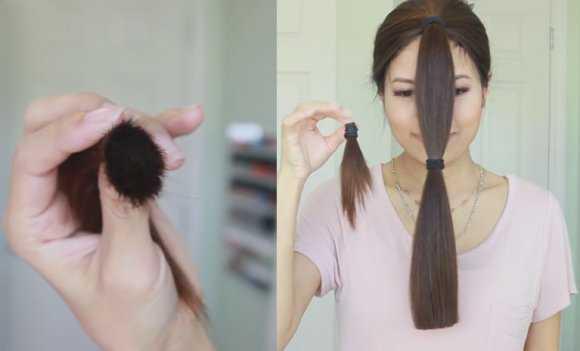 Отрезанный кончик волос
