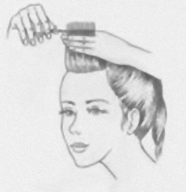 Челка с волосами одной длины: шаг 2