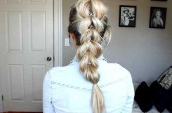 Прическа коса из хвостиков