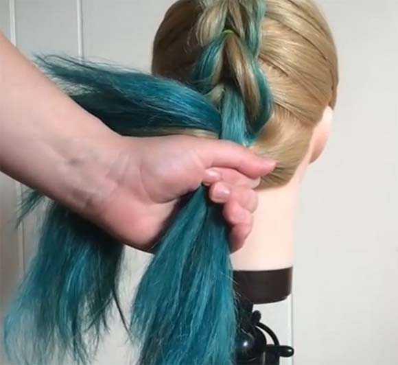 Делаем косу из хвостиков не добавляя волос