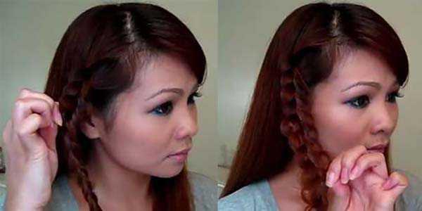 Прическа с косой: шаг 3