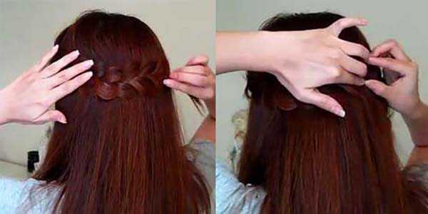 Прическа с косой: шаг 4