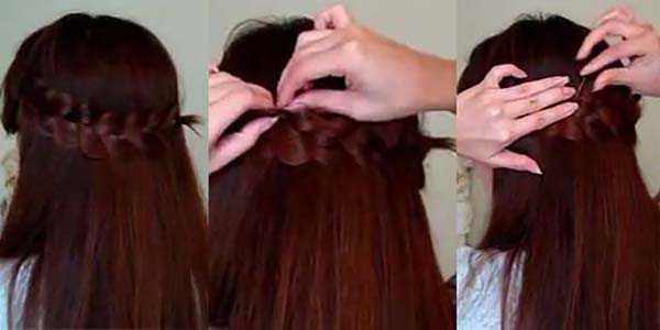 Прическа с косой: шаг 5