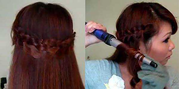 Прическа с косой: шаг 6