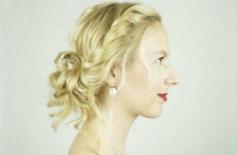 Простая праздничная прическа для средних волос