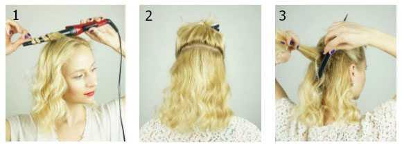 Завиваем и разделяем волосы