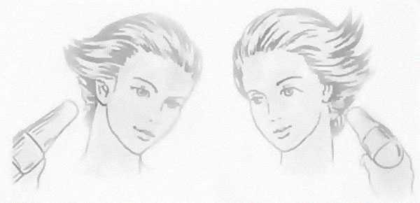 Объемная укладка волос феном